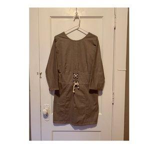 ASOS Casual Mini Dress Khaki